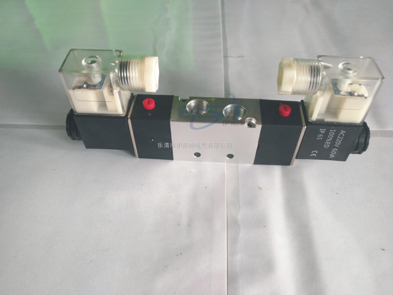 4v220-08二位五通双线圈电磁阀图片