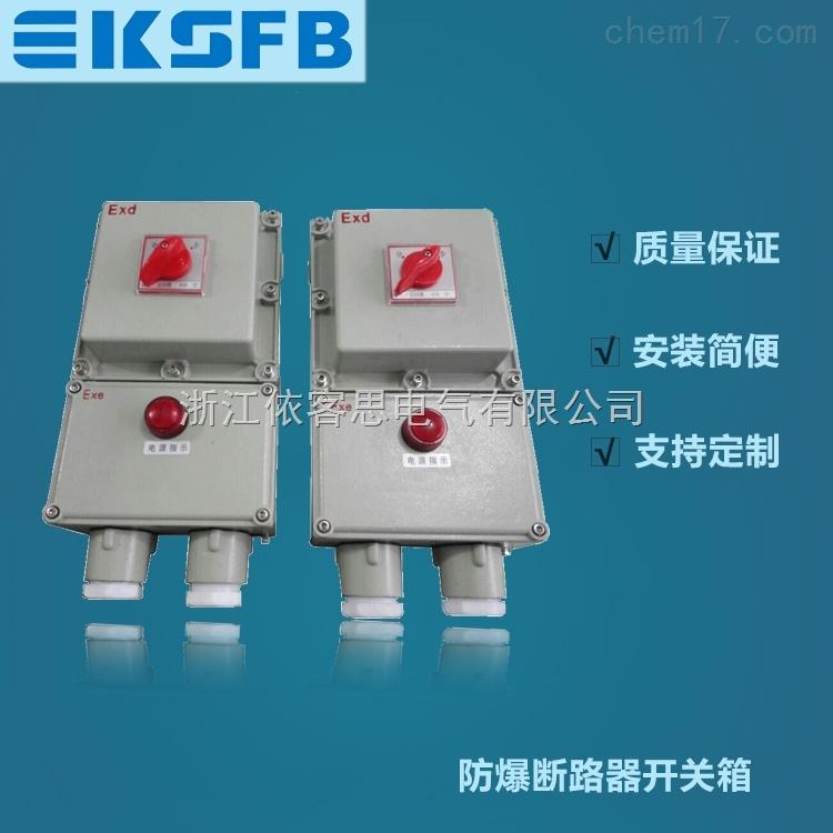 BLK52-25/3P三相防爆断路器带漏电挂墙式25A防爆负荷开关