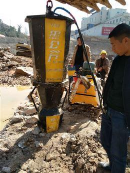 市政建设挖地基管道破硬石头劈裂机