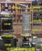 一体式蒸馏提取分离器 玻璃精油提取设备