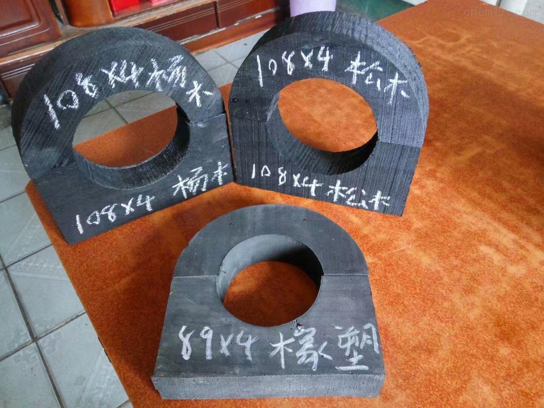 玉航供应防腐管道支撑垫木铁卡价格