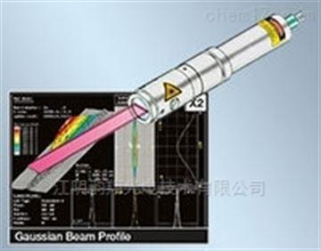 具有集成電子元件的半遠心激光線