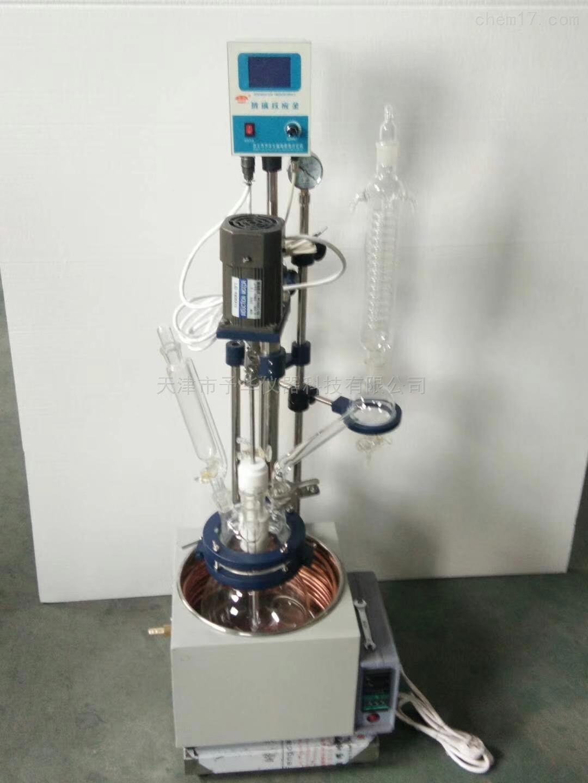 YDF-1L/2L/3L/5L小型多功能单层玻璃反应釜