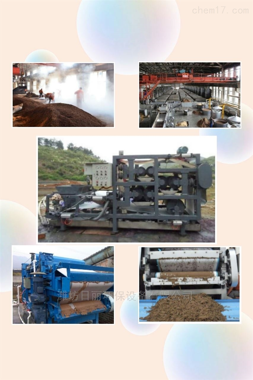 四川省白酒制造污泥脱水设备RL带式压滤机