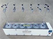 水浴恒温磁力搅拌器(单列六孔带支架)