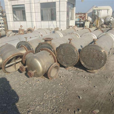 低价出售二手钛材质冷凝器 二手不锈钢冷凝器 梁山博森二手化工设备购销部