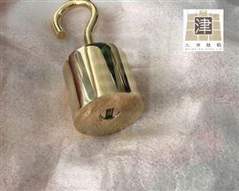 F2定制1kg黄铜砝码带钩子/1公斤黄铜标准砝码