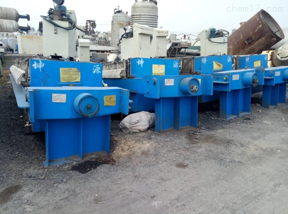 回收二手80平方厢式污泥压滤机