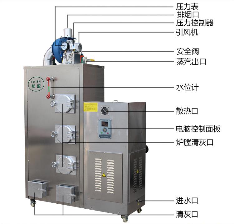 旭恩工业生物质燃料蒸汽发生器移动使用都很方便