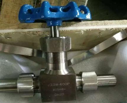 外螺纹高压针型截止阀j23wfy-600p-dn20