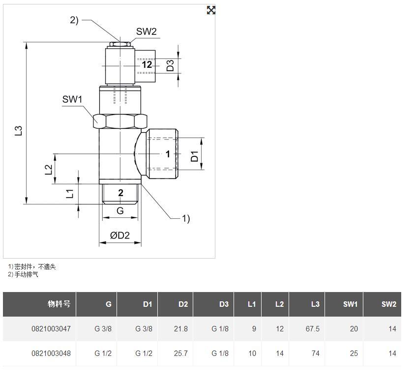 0821003046先导式单向阀产品规格图片