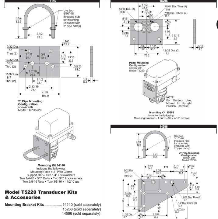 可将直流电流或电压输入信号转换为比例输出压力.