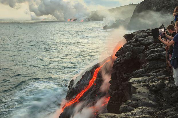 夏威夷火山喷发