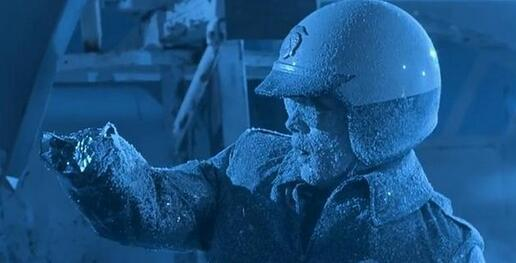 被液氮冻住
