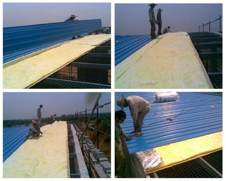 玻璃棉钢结构屋面保温施工方法