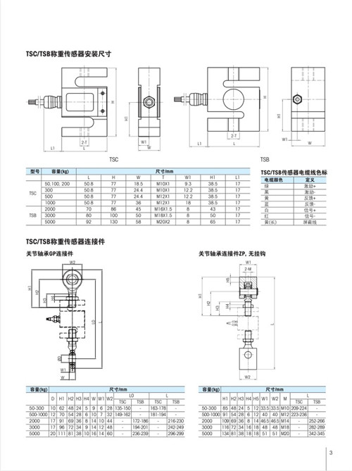 梅特勒托利多TSC-50KG称重传感器 TSC-50
