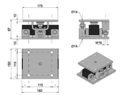加料斗剪切梁传感器称重模块