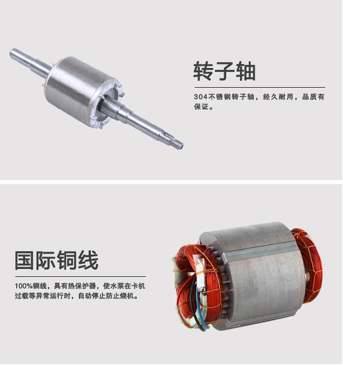 ZW型自吸排污泵转子轴和铜线